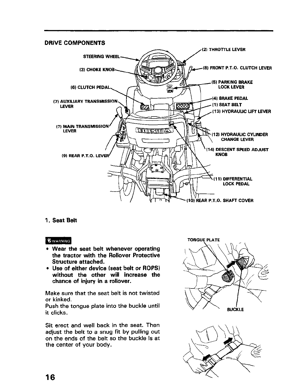 Honda Rt5000 Owners Manual