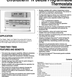 honeywell chronotherm t8600d users manual 68 0164 t8600d t8601d and t8602d iv deluxe programmable thermostats [ 1062 x 1574 Pixel ]