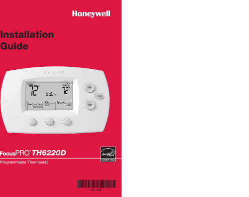 small resolution of  honeywell focuspro th6220d installation manual 120165 69 1785 honeywell focuspro th6220d installation manual 120165 69 1785