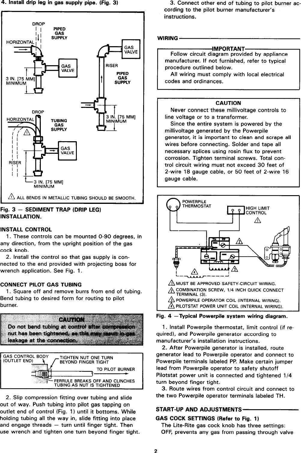 hight resolution of page 2 of 4 honeywell honeywell honeywell gas heater vs820