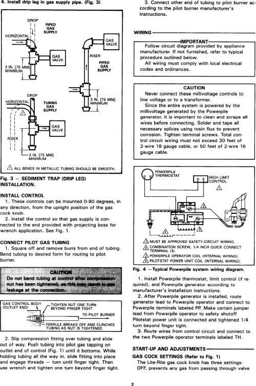 small resolution of page 2 of 4 honeywell honeywell honeywell gas heater vs820