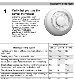 page 1 of 12 honeywell honeywell honeywell thermostat ct87a users  [ 718 x 1201 Pixel ]