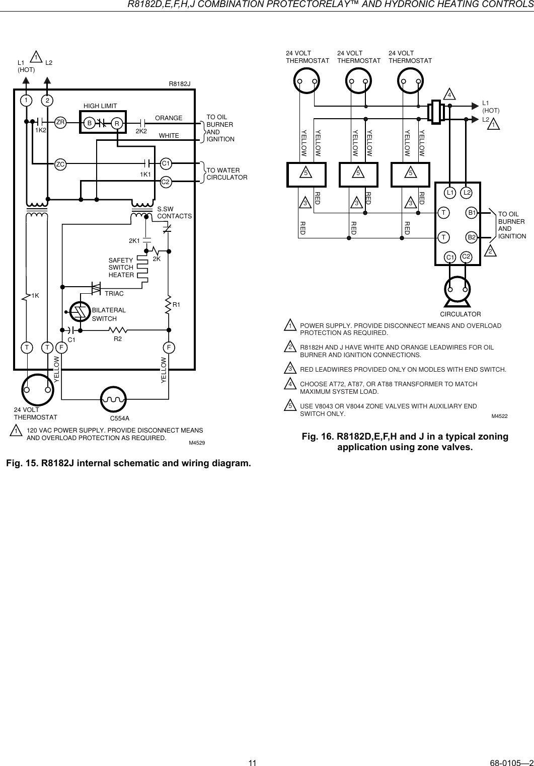 hight resolution of honeywell r8182d users manual 68 0105 r8182d e f h j combination protectorelay and hydronic heating controls