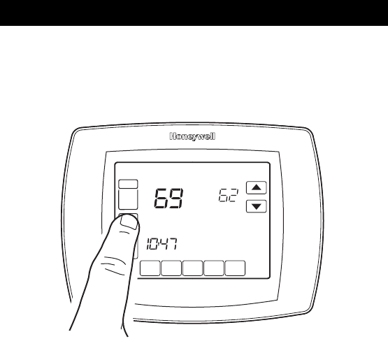 Honeywell Rth8500D Owners Manual 69 1725 Touch Screen