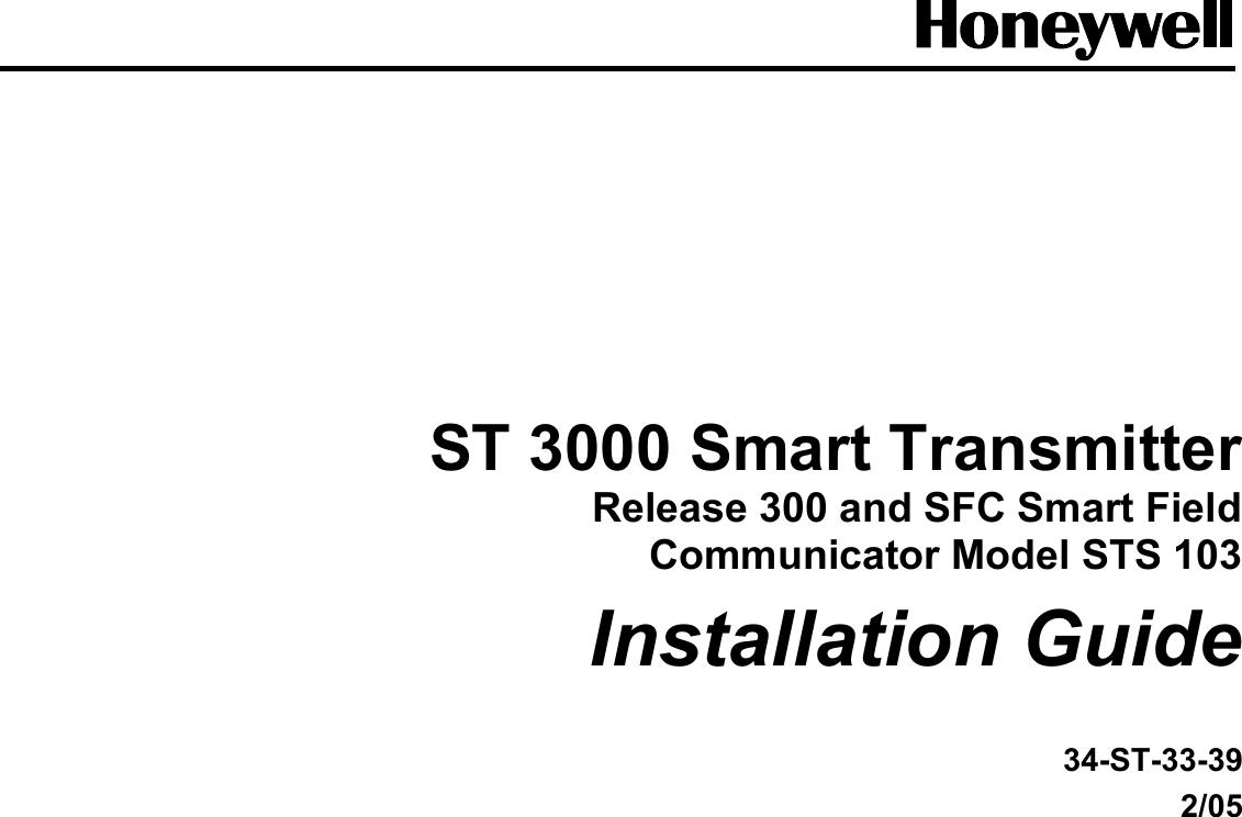 Honeywell St 3000 Users Manual