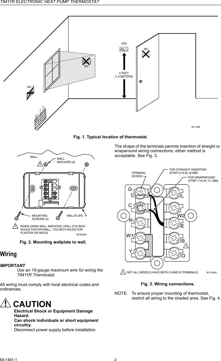 hight resolution of page 2 of 6 honeywell honeywell t8411r users manual 69