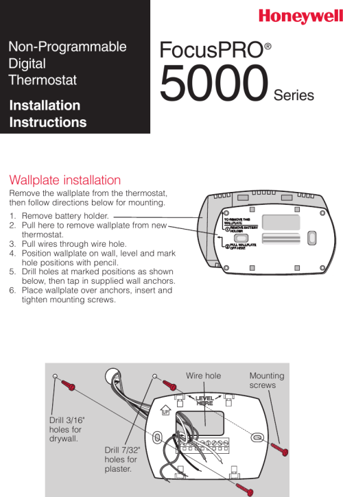 small resolution of honeywell th5110 installation instructions 69 2698efs 03 focuspro th5000 series