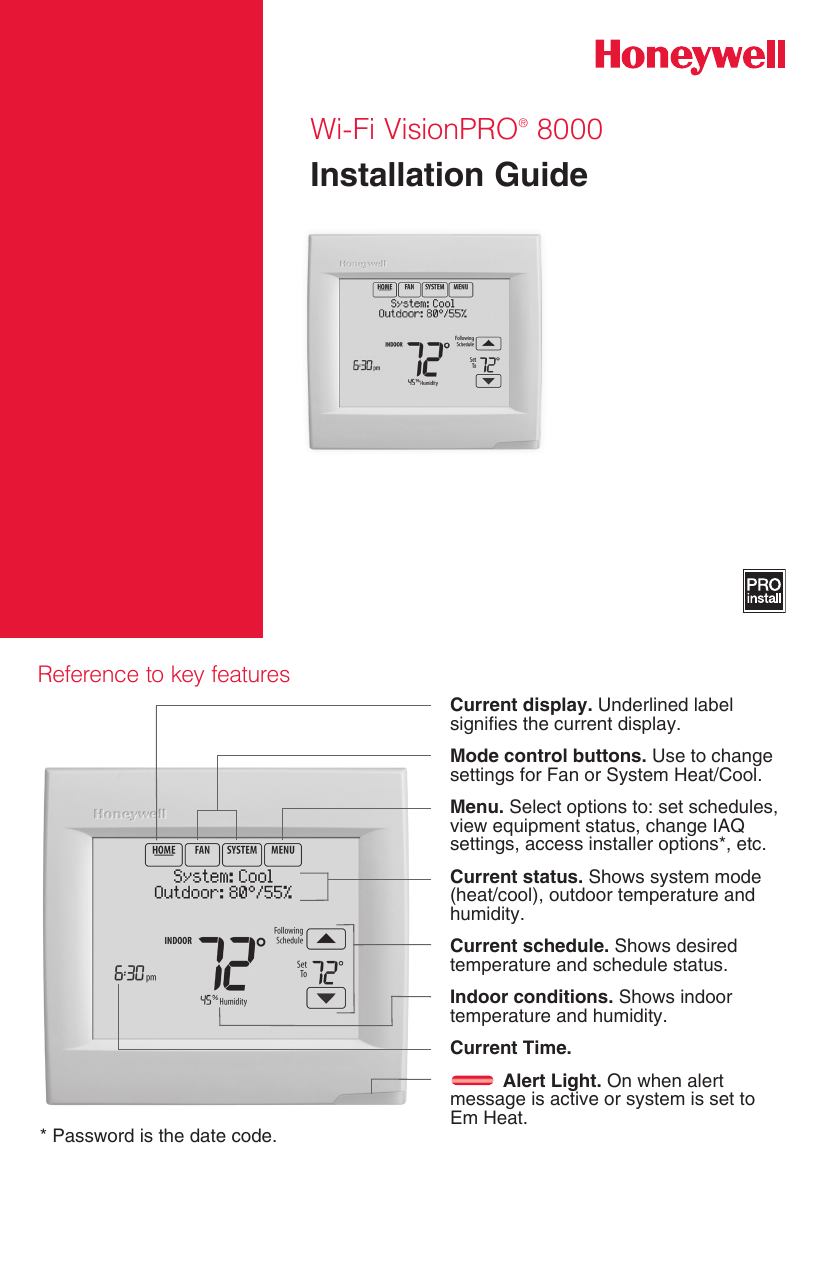 hight resolution of page 1 of 12 honeywell honeywell th8321wf1001 installation guide 33