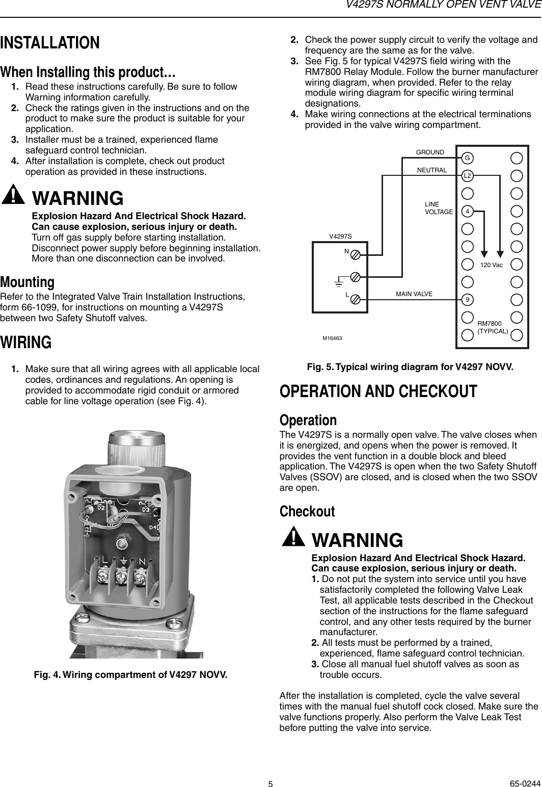 hight resolution of page 5 of 8 honeywell honeywell vent valve v4297s users