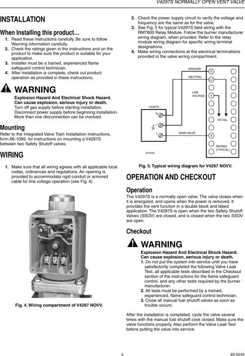 small resolution of page 5 of 8 honeywell honeywell vent valve v4297s users