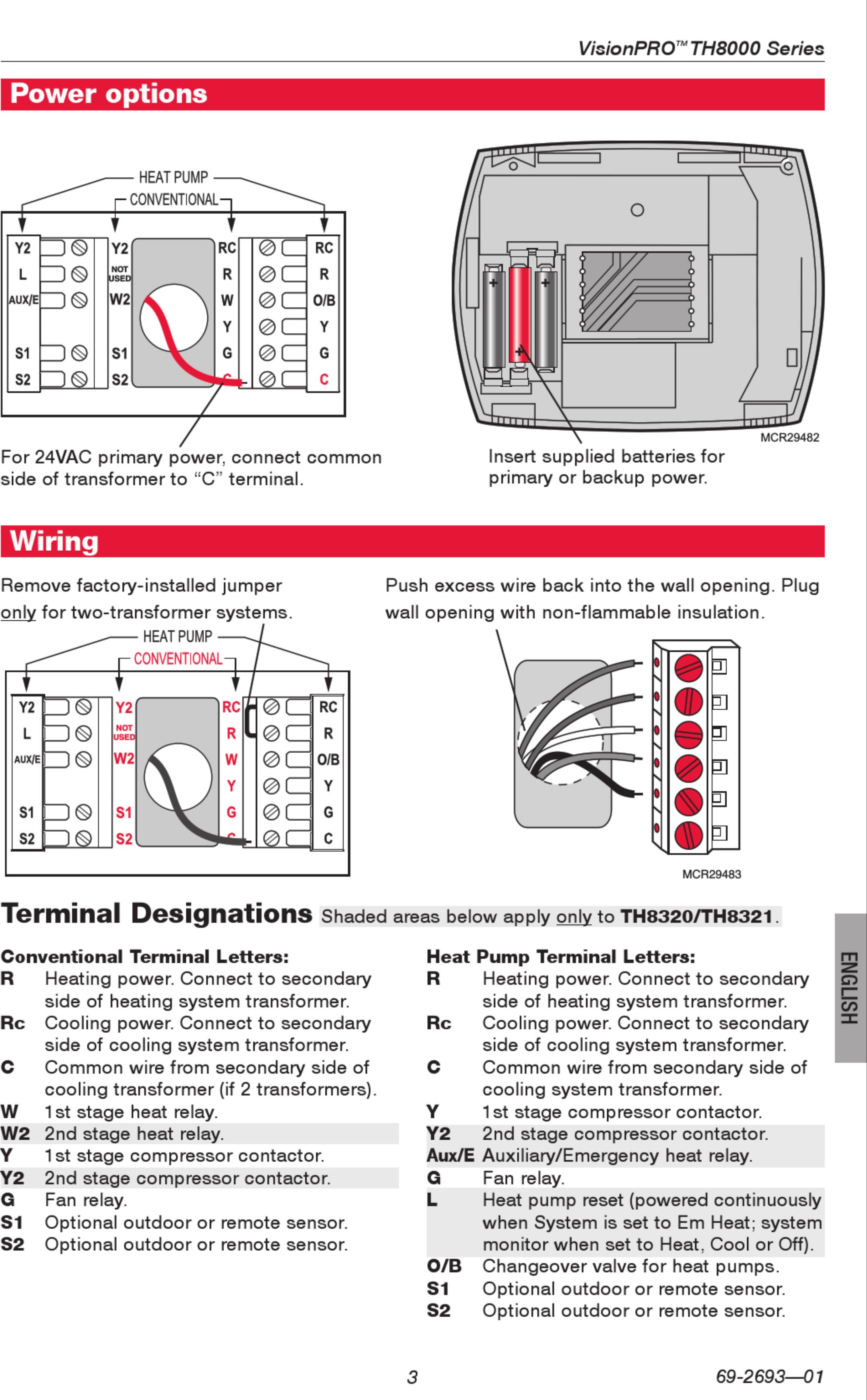 Honeywell Thermostat Th8320u1008 Wiring Diagram