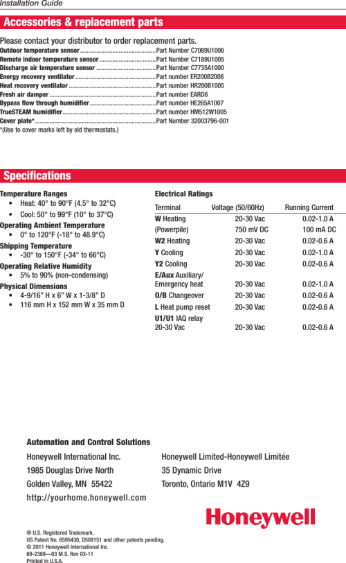 small resolution of page 12 of 12 honeywell honeywell visionpro touch screen programmable