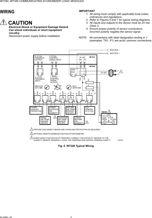 small resolution of honeywell economizer wiring diagram