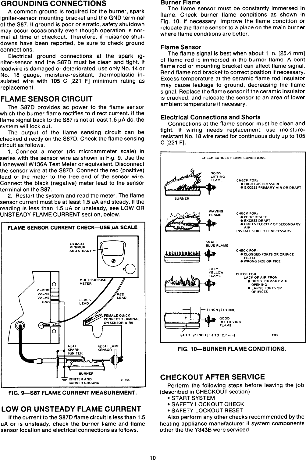 Honeywell Y343B1002 Users Manual 68 0014 Direct Spark Gas