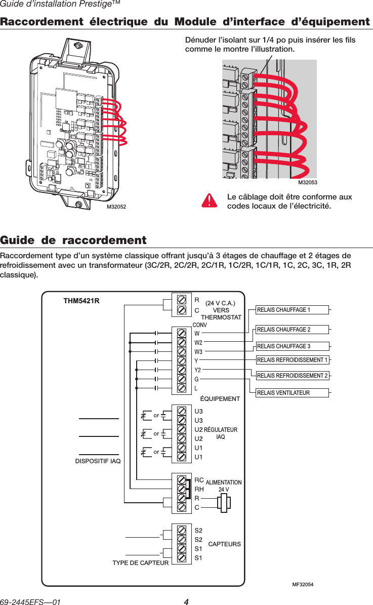 Honeywell THM5421R01 Equipment Interface Module User