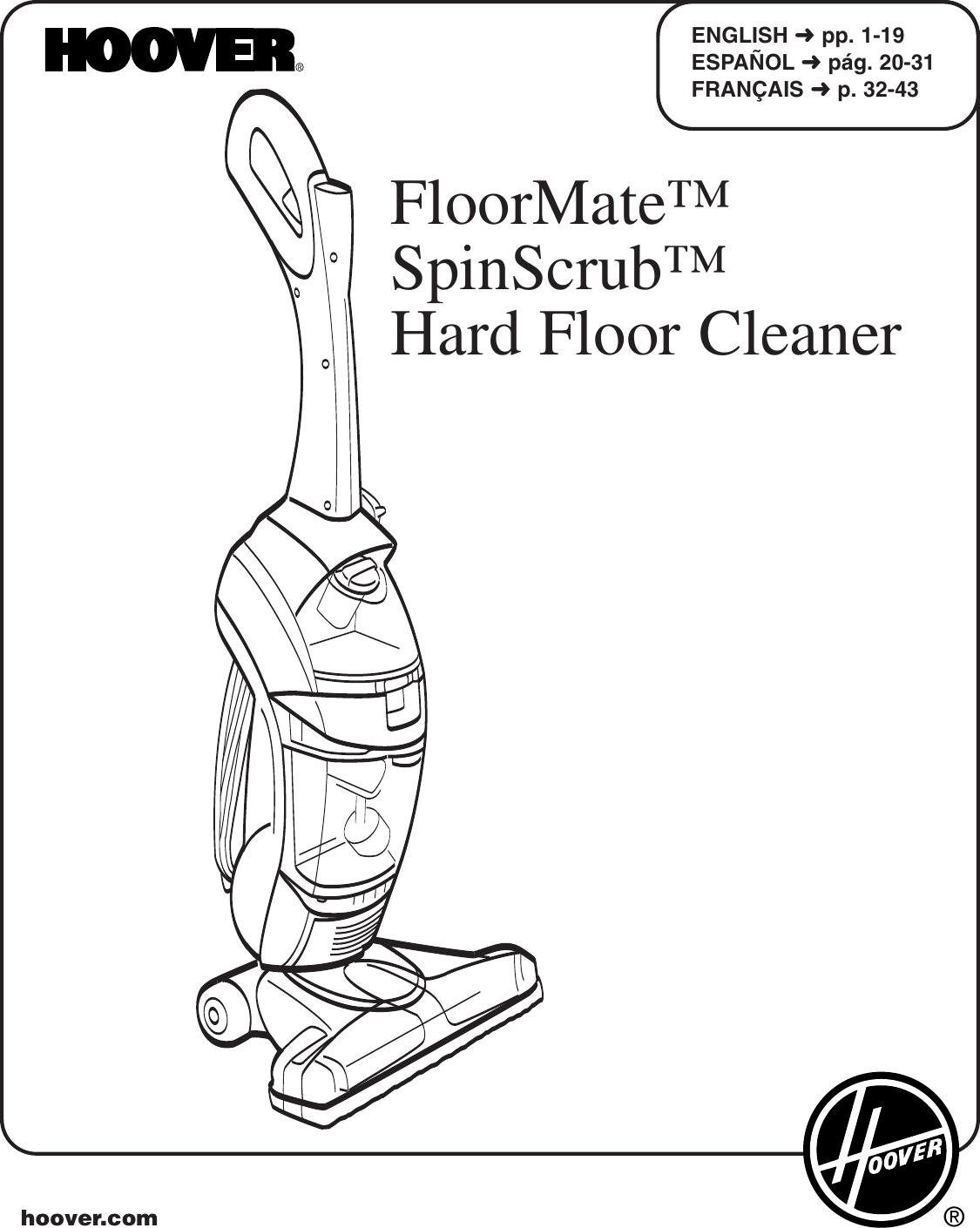 Floormate Spinscrub Aspirateur