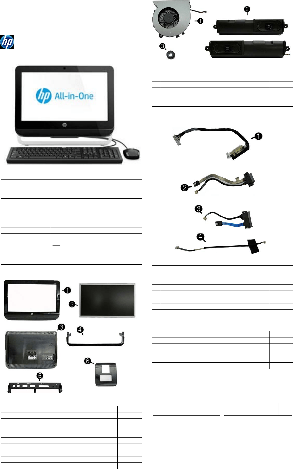 Hp 1105 All In One Desktop Pc Reference Guide Elwood2 AIO IPSM