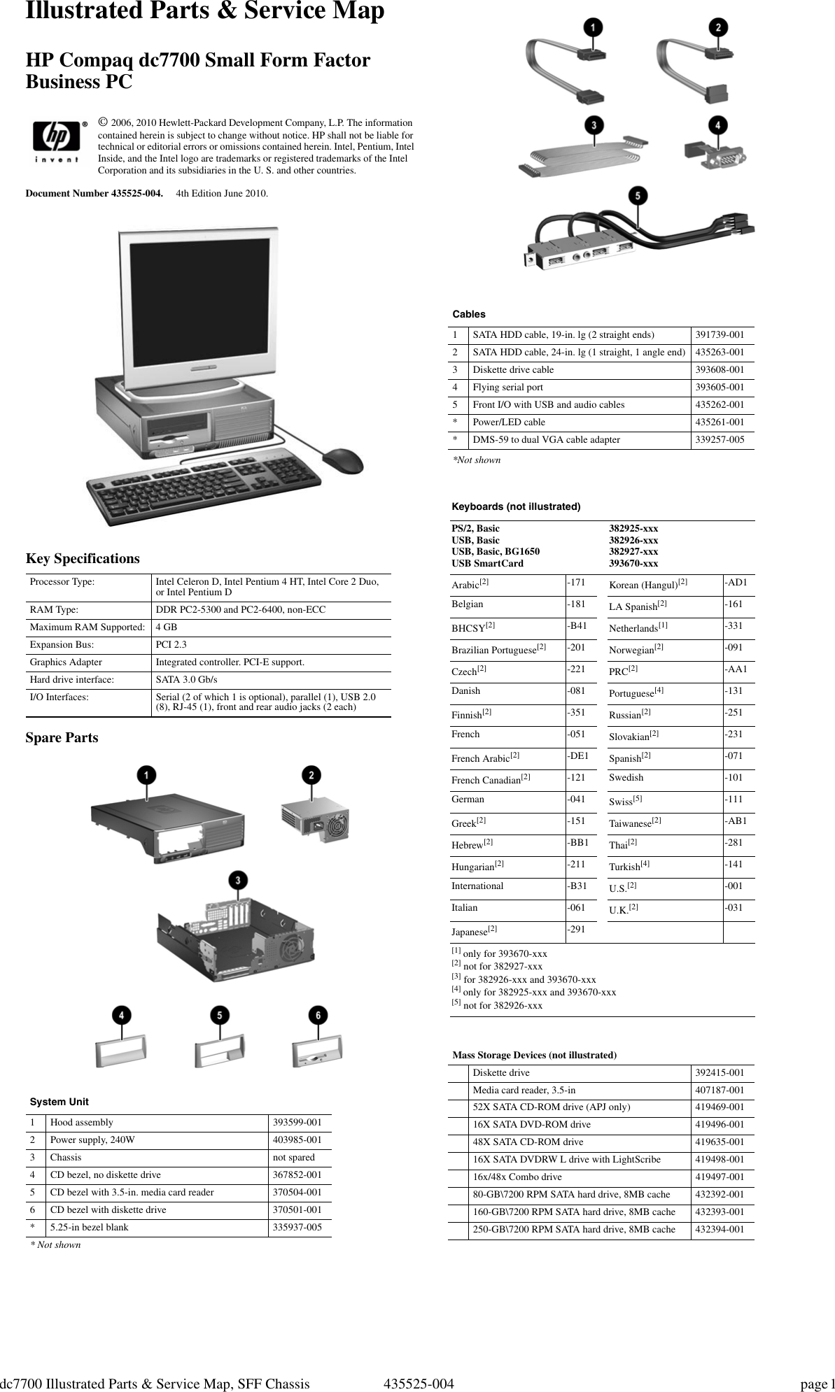 Hp Compaq Dc7700 Small Form Factor Pc Service And Maintain