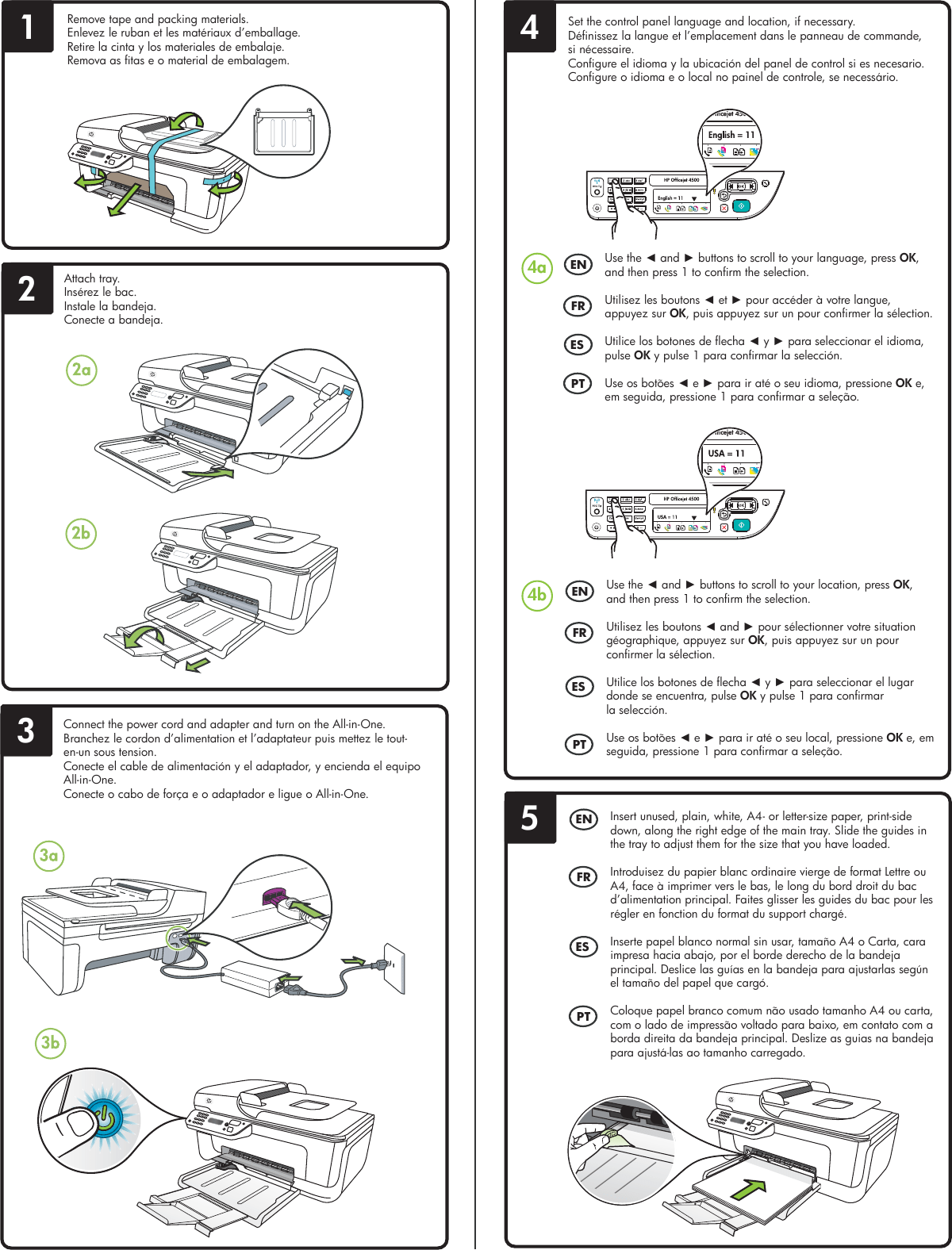 hight resolution of page 2 of 4 hp hp officejet 4500 wireless all