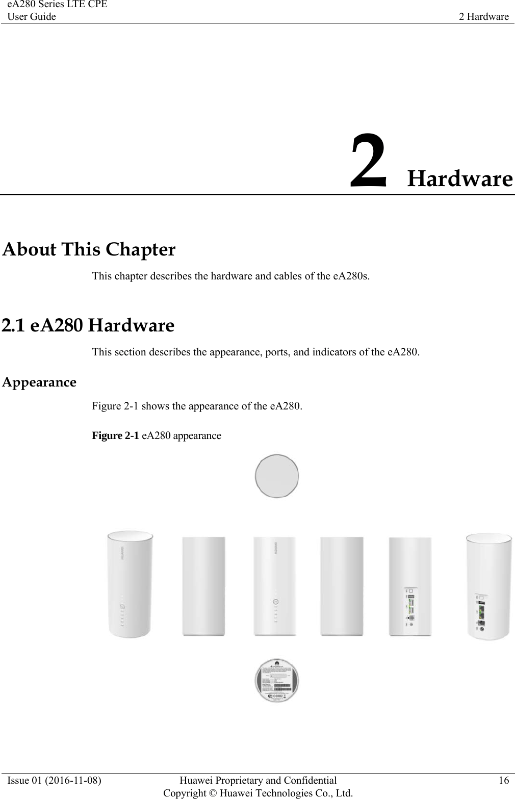Huawei Technologies EA280-135 LTE CPE User Manual eA280