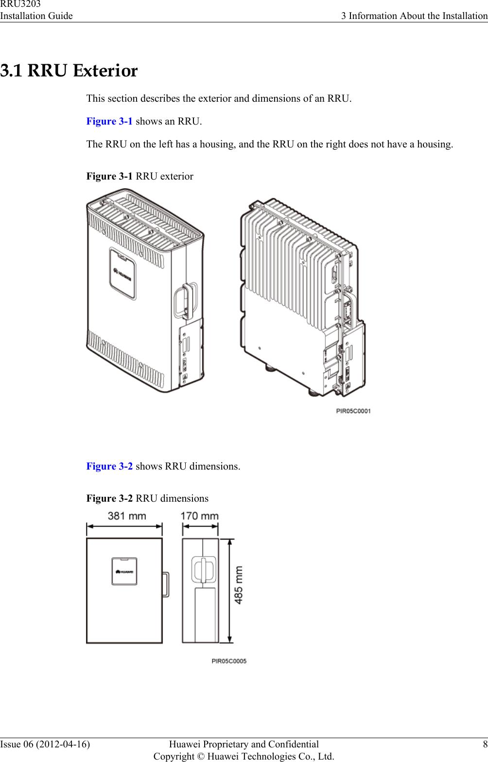 Huawei Technologies RRU3203-B12 Remote Radio Unit User