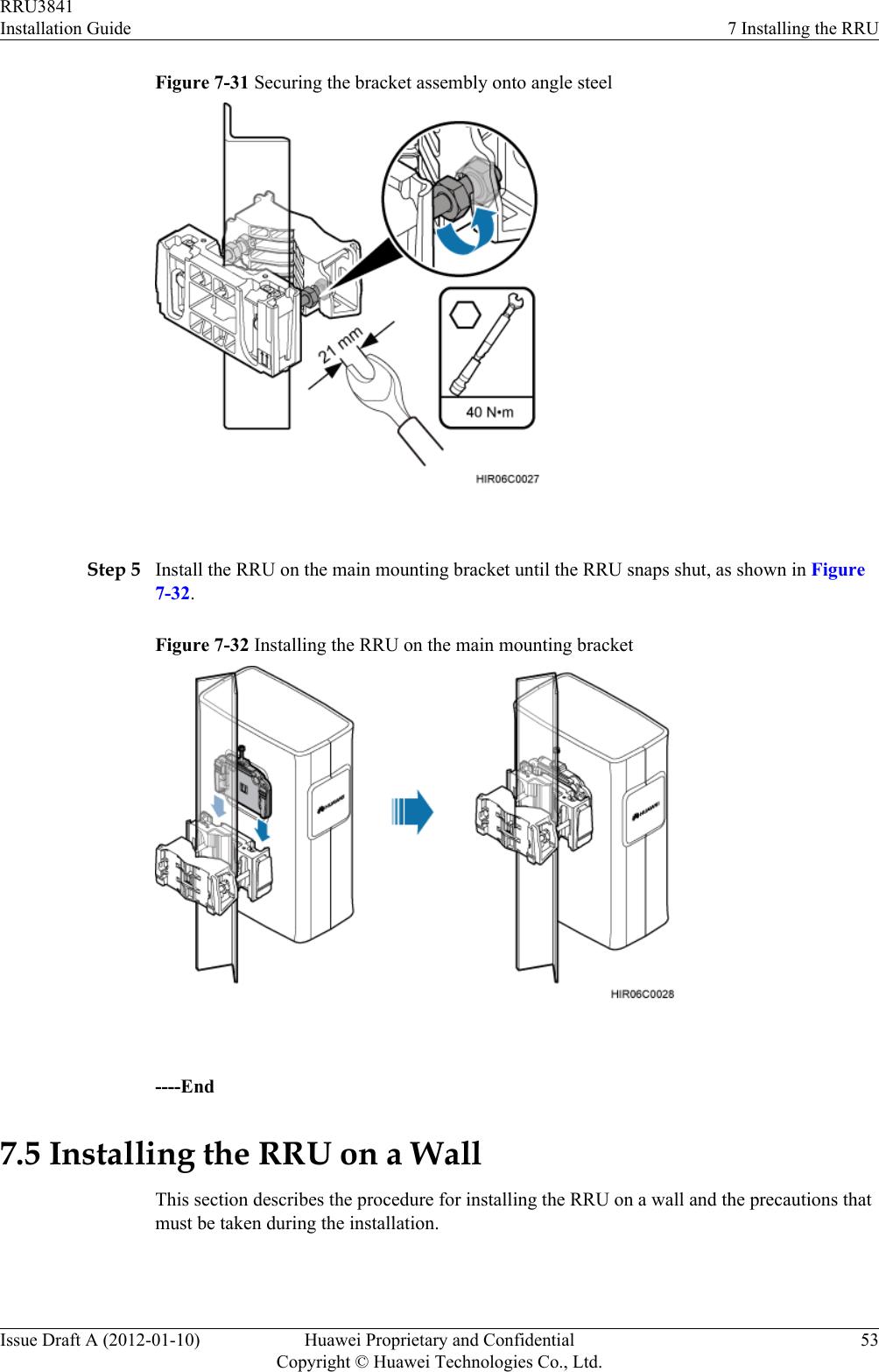 Huawei Technologies RRU3841 Remote Radio Unit User Manual