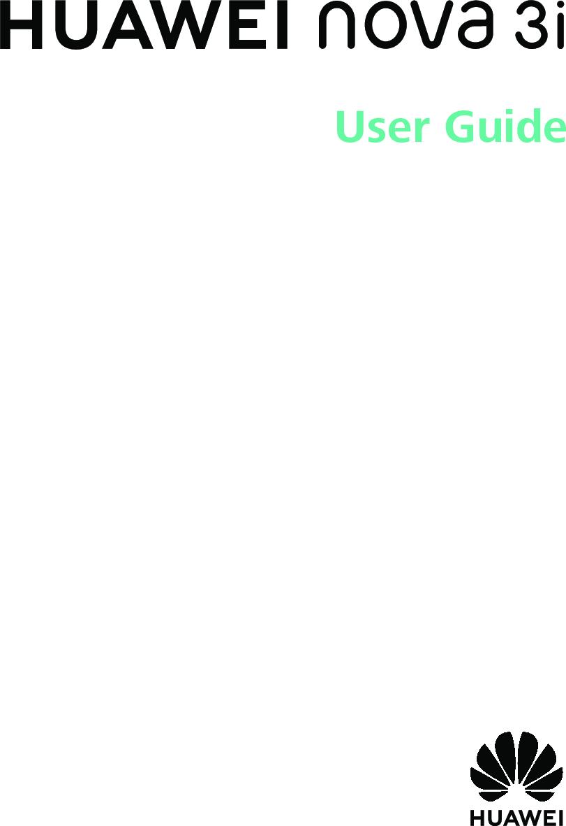 Huawei Nova 3i User Guide (EMUI8.2 01,EN,Normal)