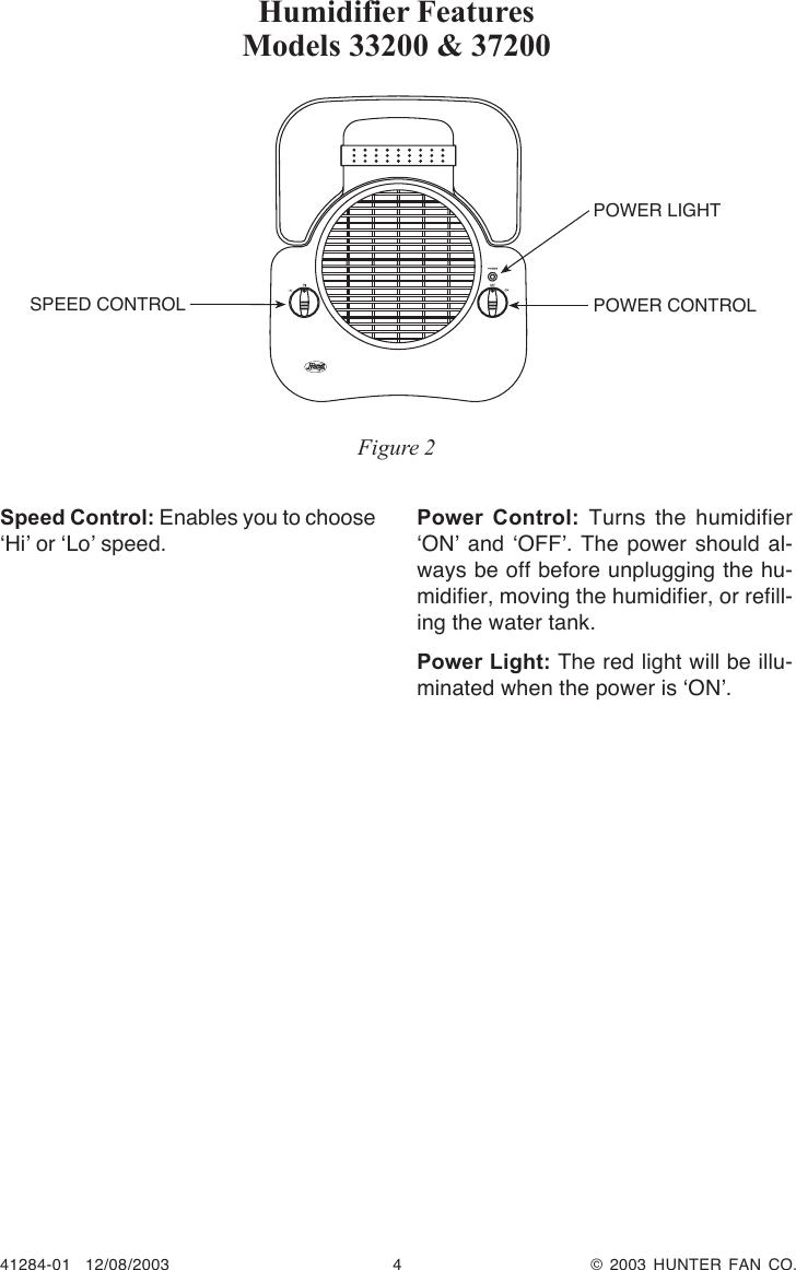 Hunter Fan 33200 Owner S Manual 41284 01