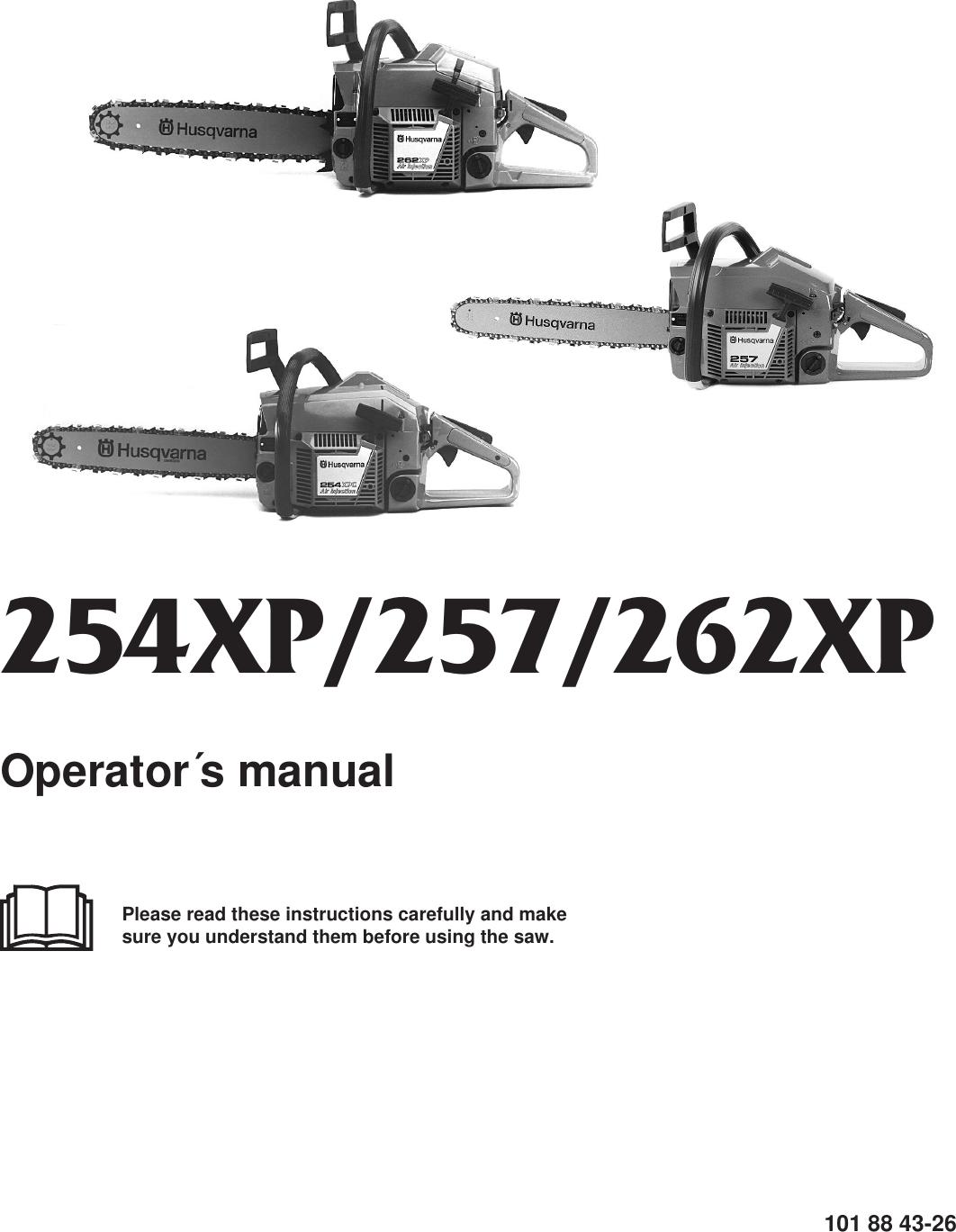 Husqvarna 254Xp 257 262Xp Users Manual OM, 254 XP/ 257