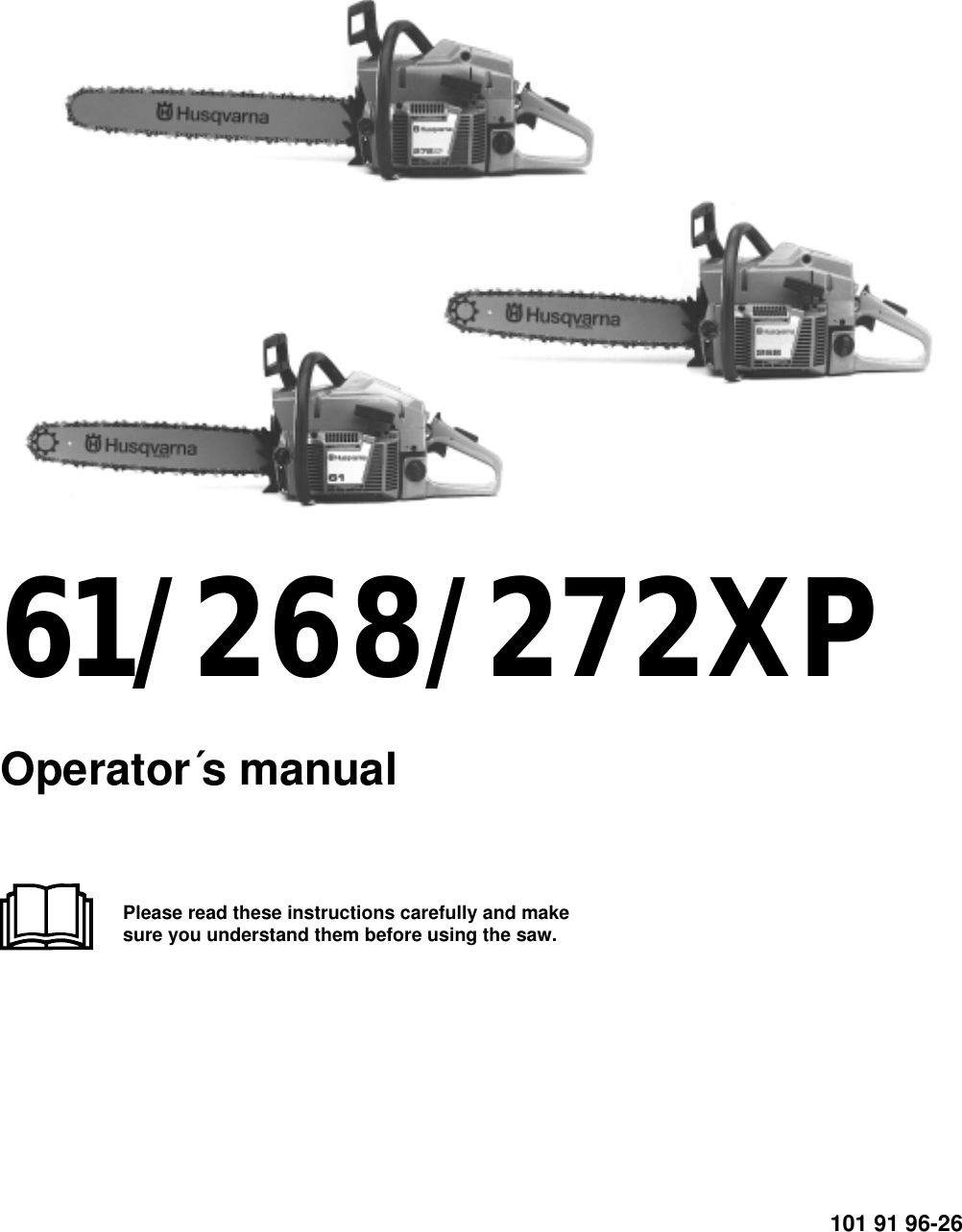 Husqvarna 61 268 272Xp Operators Manual ManualsLib Makes