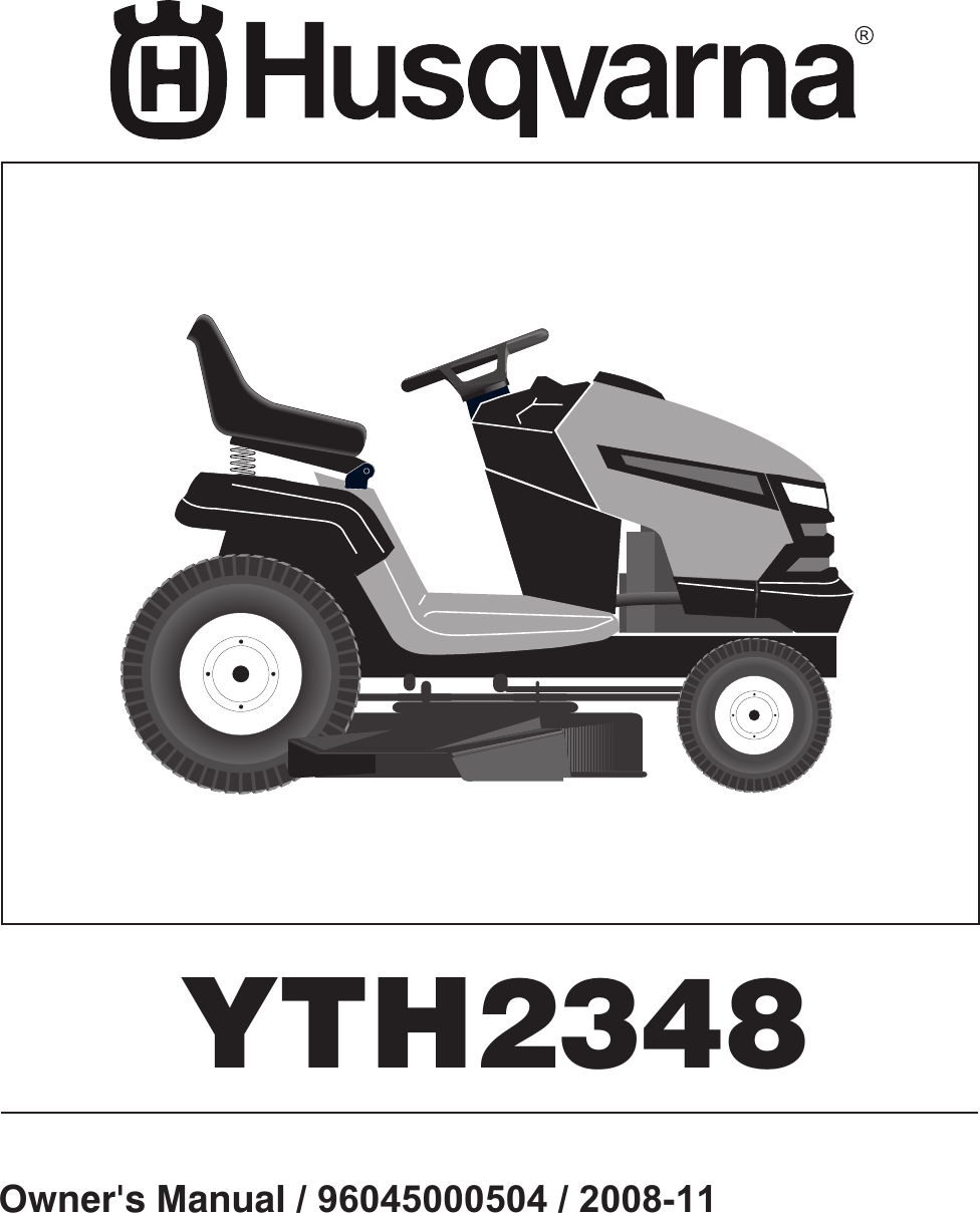medium resolution of husqvarna 96045000504 users manual om yth2348 2008 11 96045000504 532424761r1 tractor