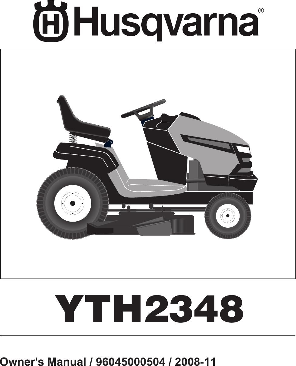 hight resolution of husqvarna 96045000504 users manual om yth2348 2008 11 96045000504 532424761r1 tractor