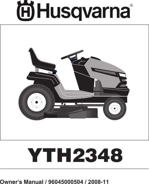 small resolution of husqvarna 96045000504 users manual om yth2348 2008 11 96045000504 532424761r1 tractor