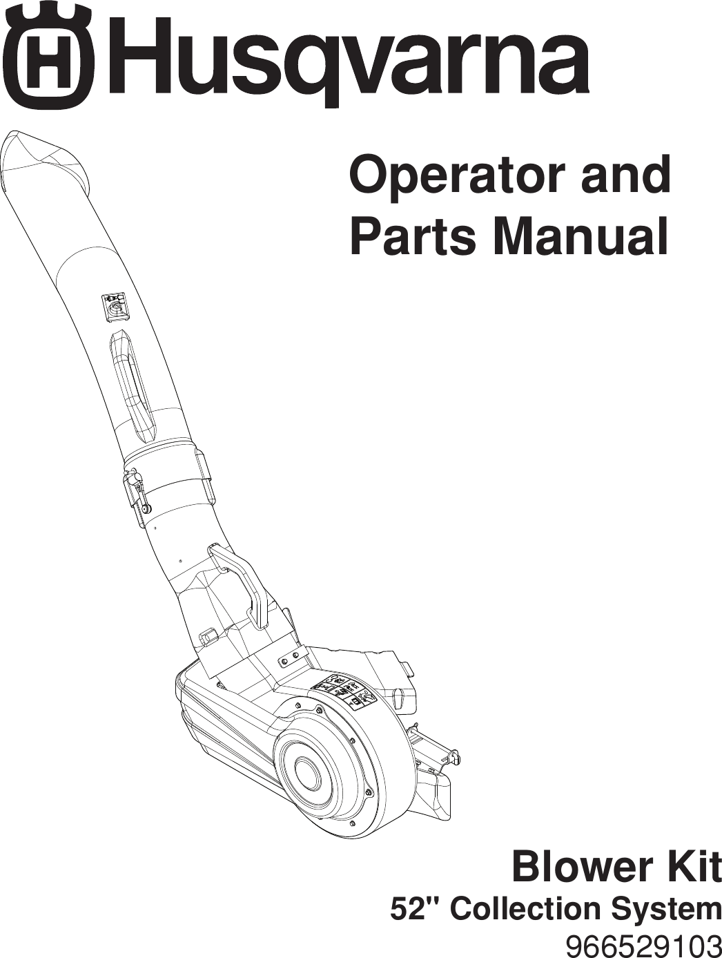 Husqvarna 966529103 Users Manual OM, H352F 52 COLLECTION