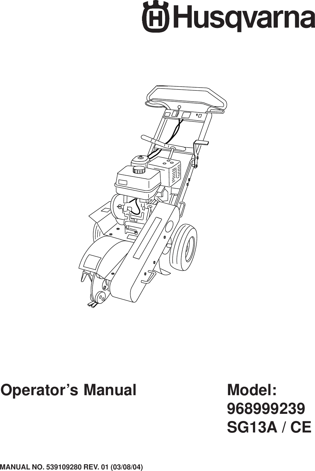 Husqvarna 968999239 Users Manual OM, SG 13 A/ CE, 2004 03