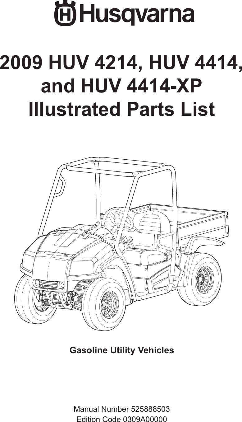 Husqvarna Automobile Parts Huv 4214 Users Manual IPL