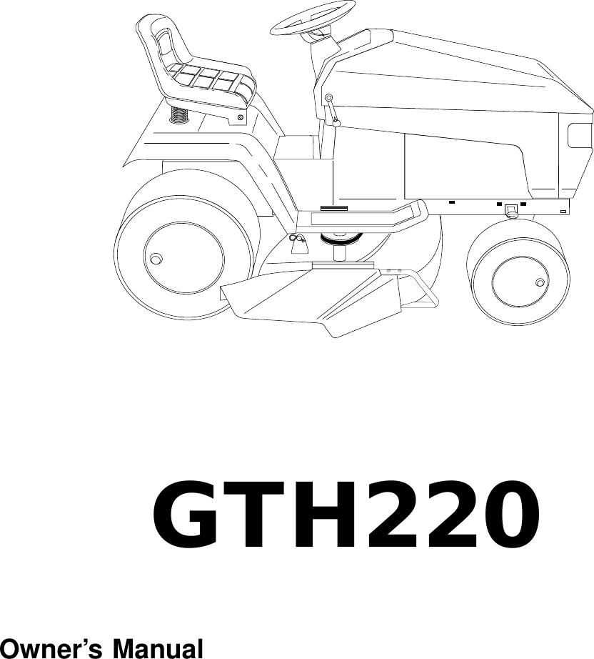 Husqvarna Gth220 Users Manual OM, GTH 220, 954830167A,1995