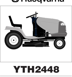 husqvarna yth2448 users manual om yth 2448 mills fleet farm 960150001 2006 02 ride mower [ 976 x 1226 Pixel ]