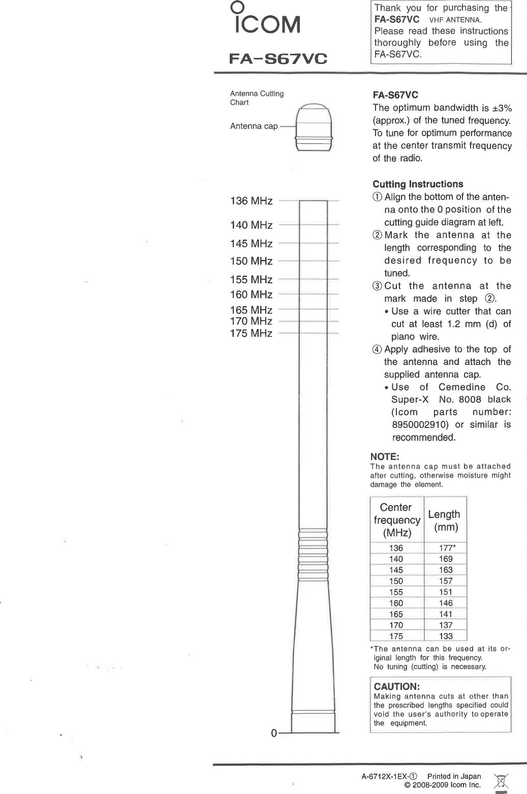 ICOM orporated 376600 VHF Digital Transceiver User Manual 2