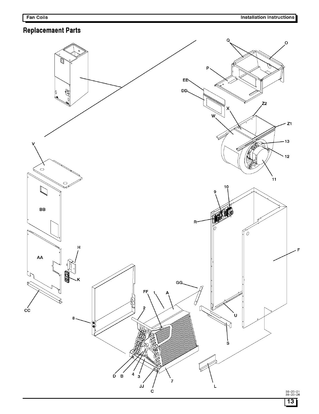 ICP Air Handler (indoor Blower&evap) Manual L0502497