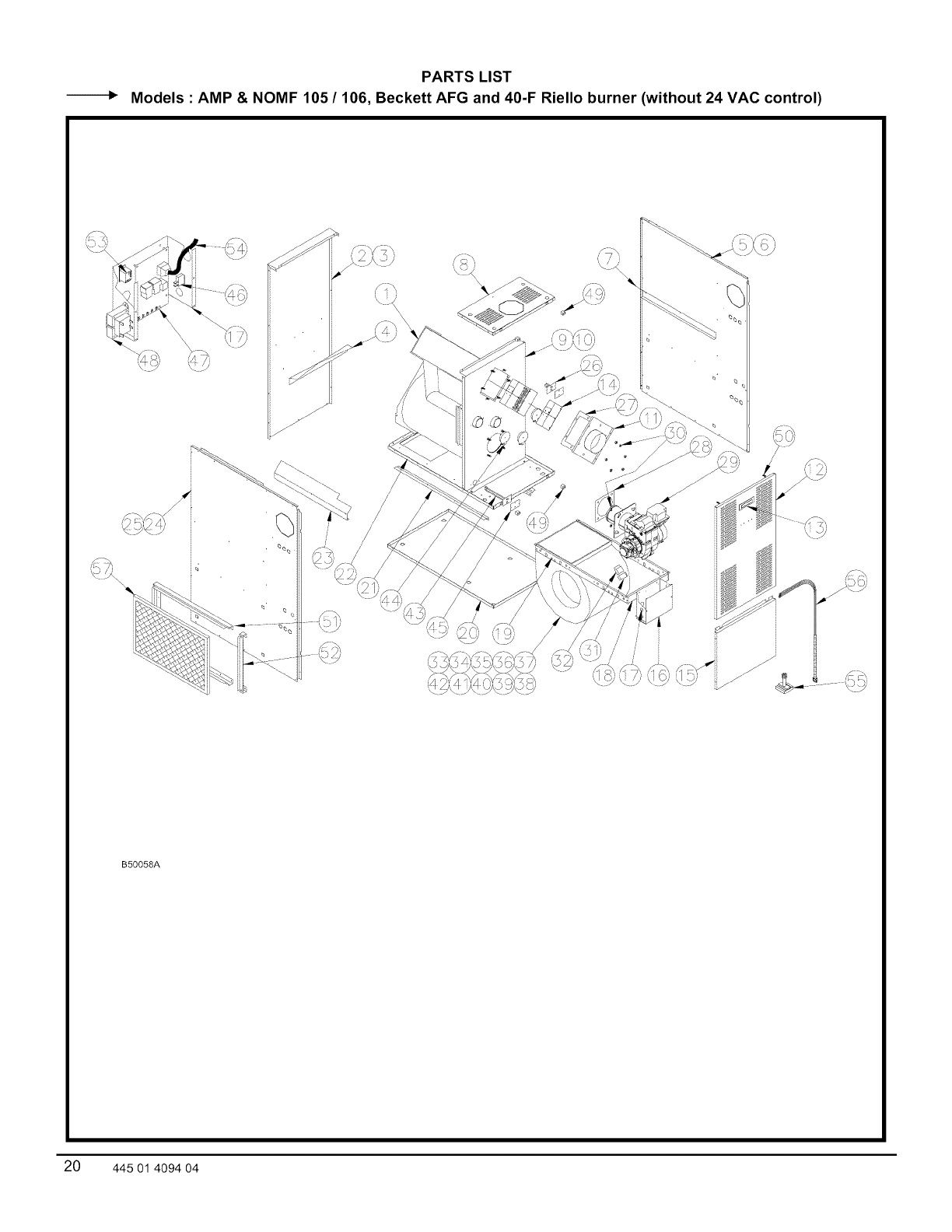 ICP Furnace/Heater, Oil Manual L0909256