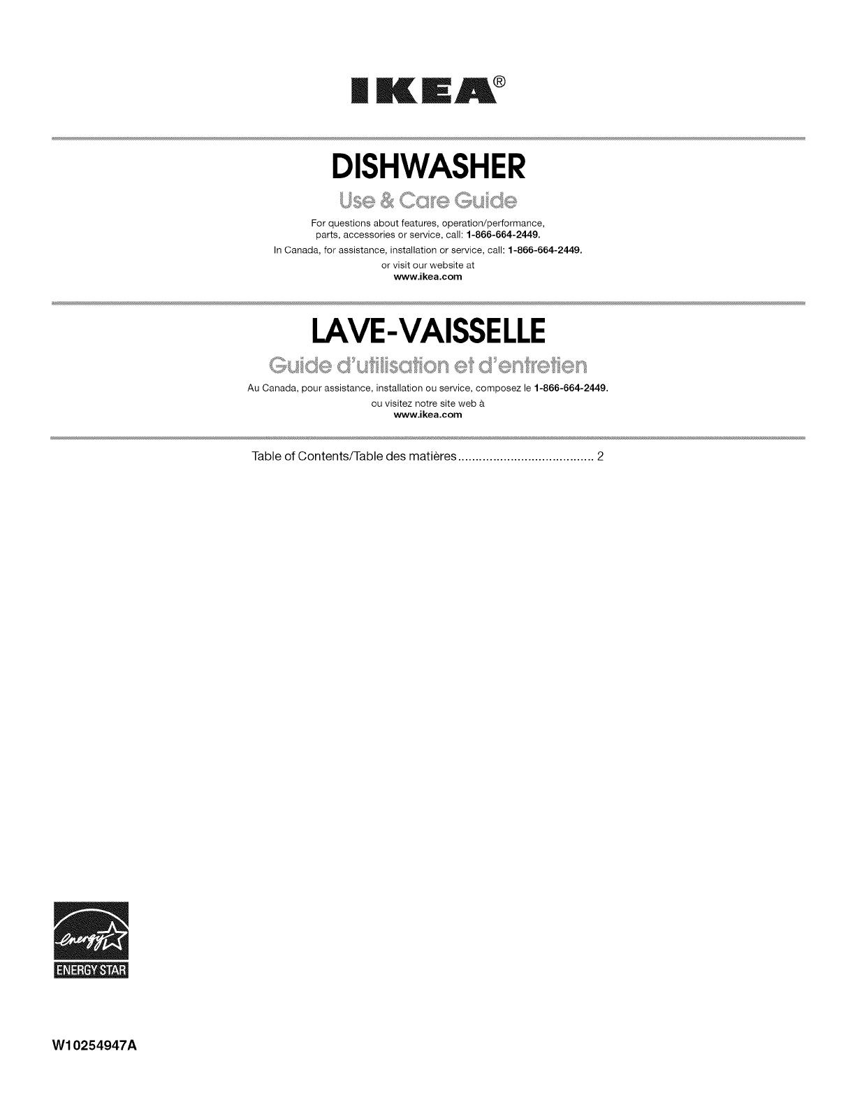 ikea dishwasher manual l1001089