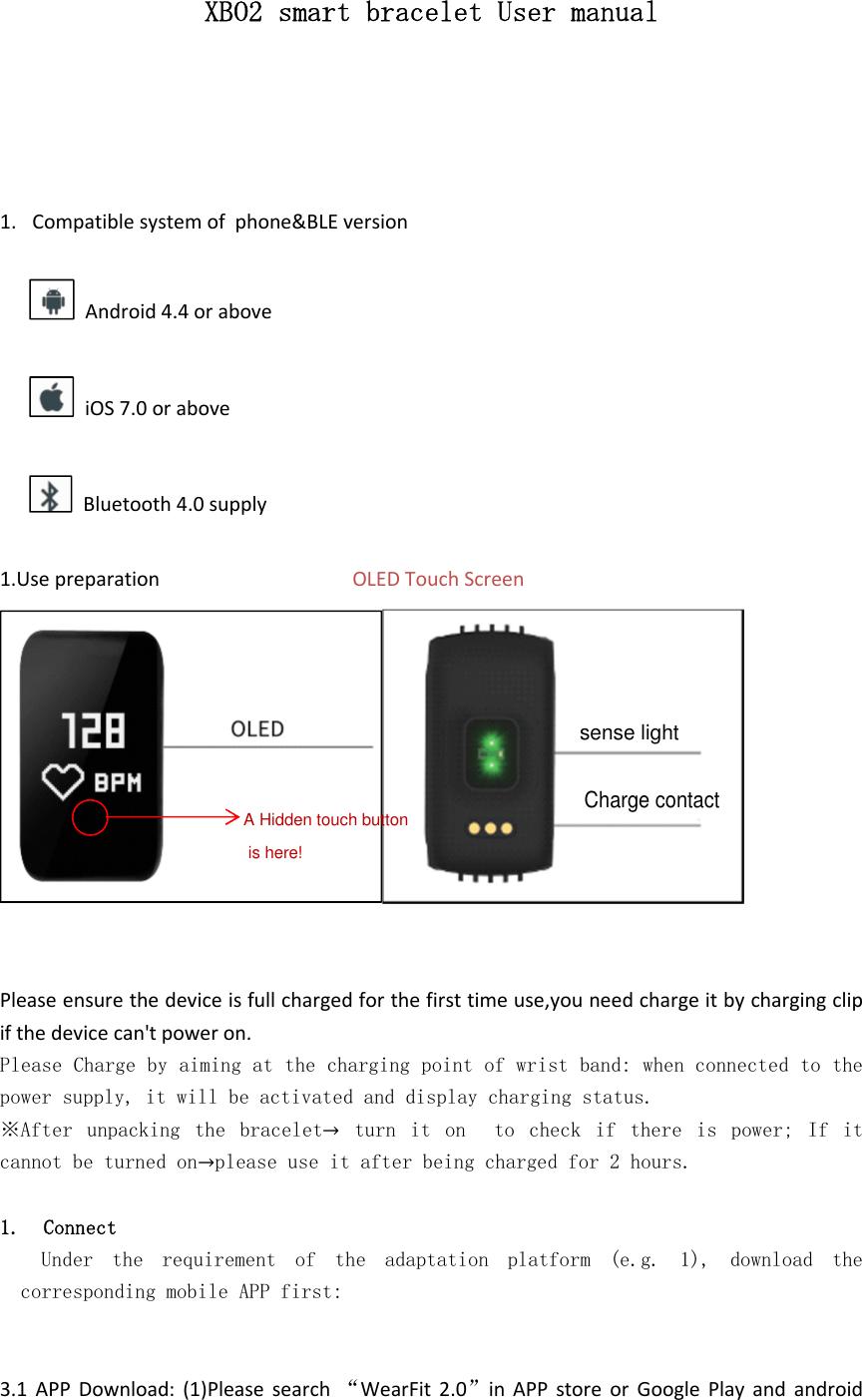 INFINIX MOBILITY XB02 Smart Bracelet User Manual