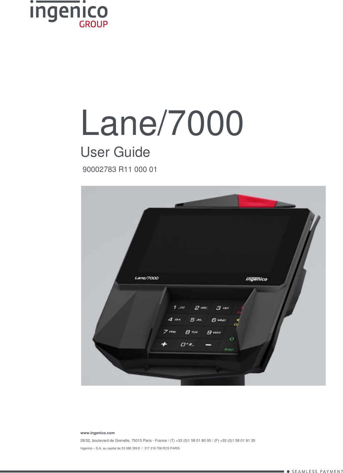 INGENICO L7000CL Lane/7000 Signature capture payment