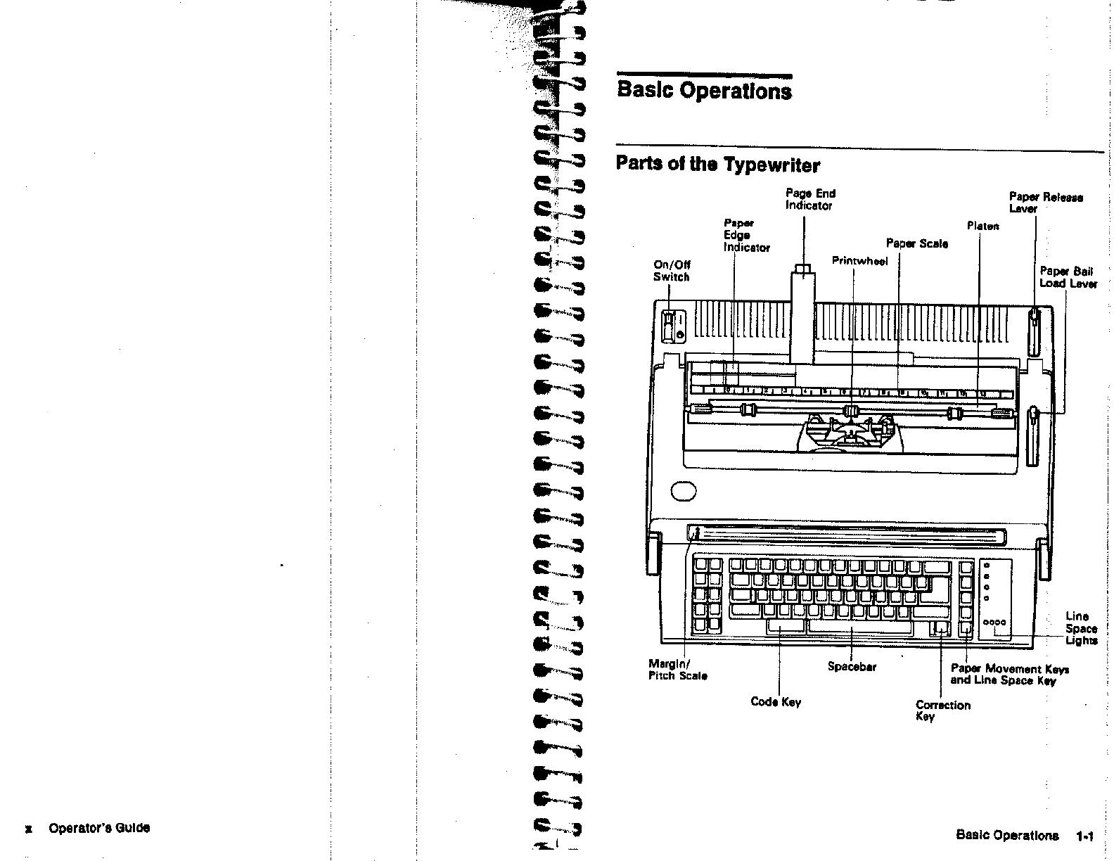 Ibm 6784 Users Manual Wheelwriter 6 Series II Typewriter