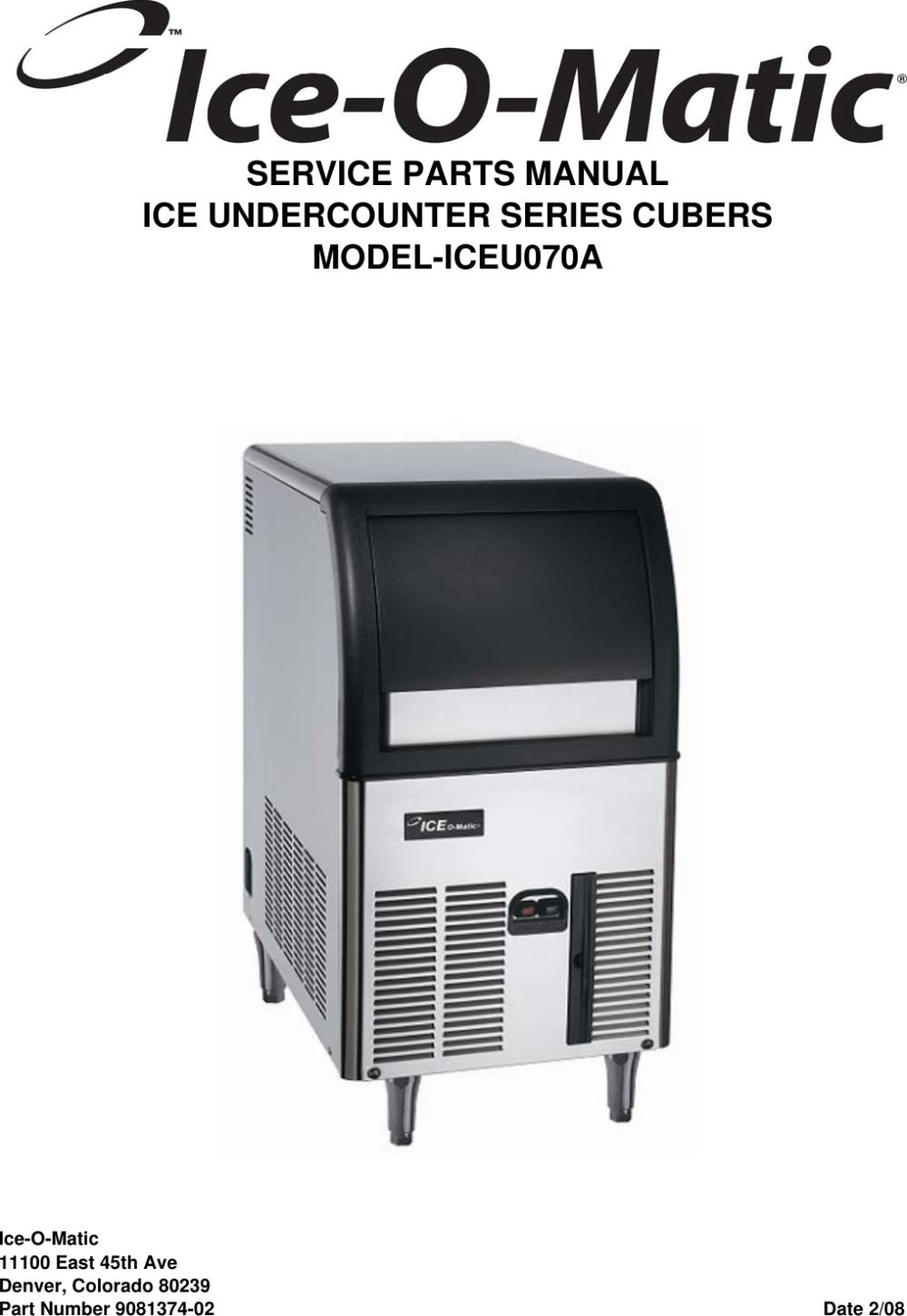 medium resolution of ice o matic wiring diagram