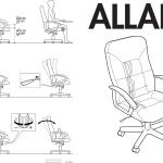 Ikea Allak Swivel Chair Blk Cf Assembly Instruction 3