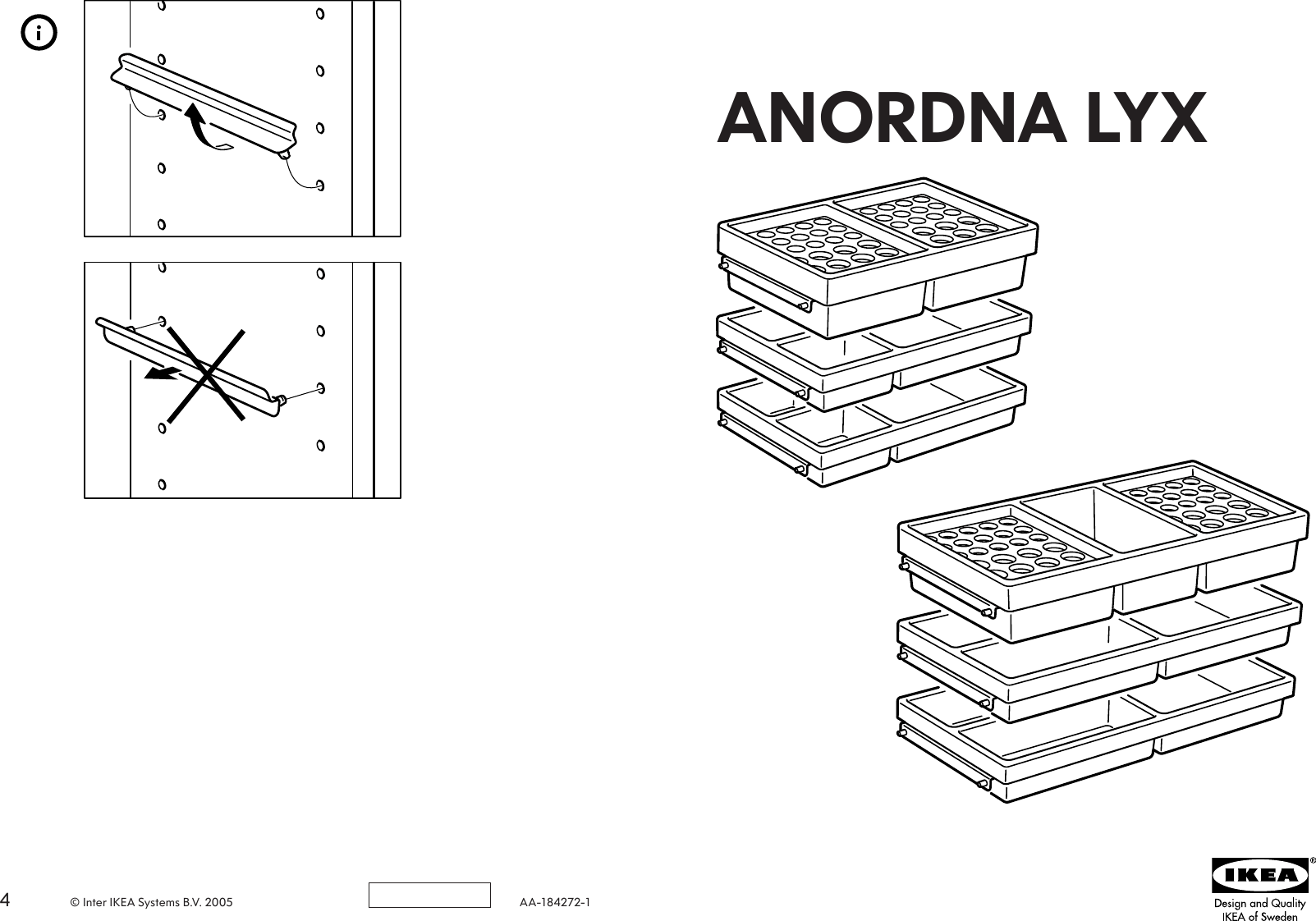 Ikea Anordna Lyx Storage Unit S3 12X8 Wh Assembly