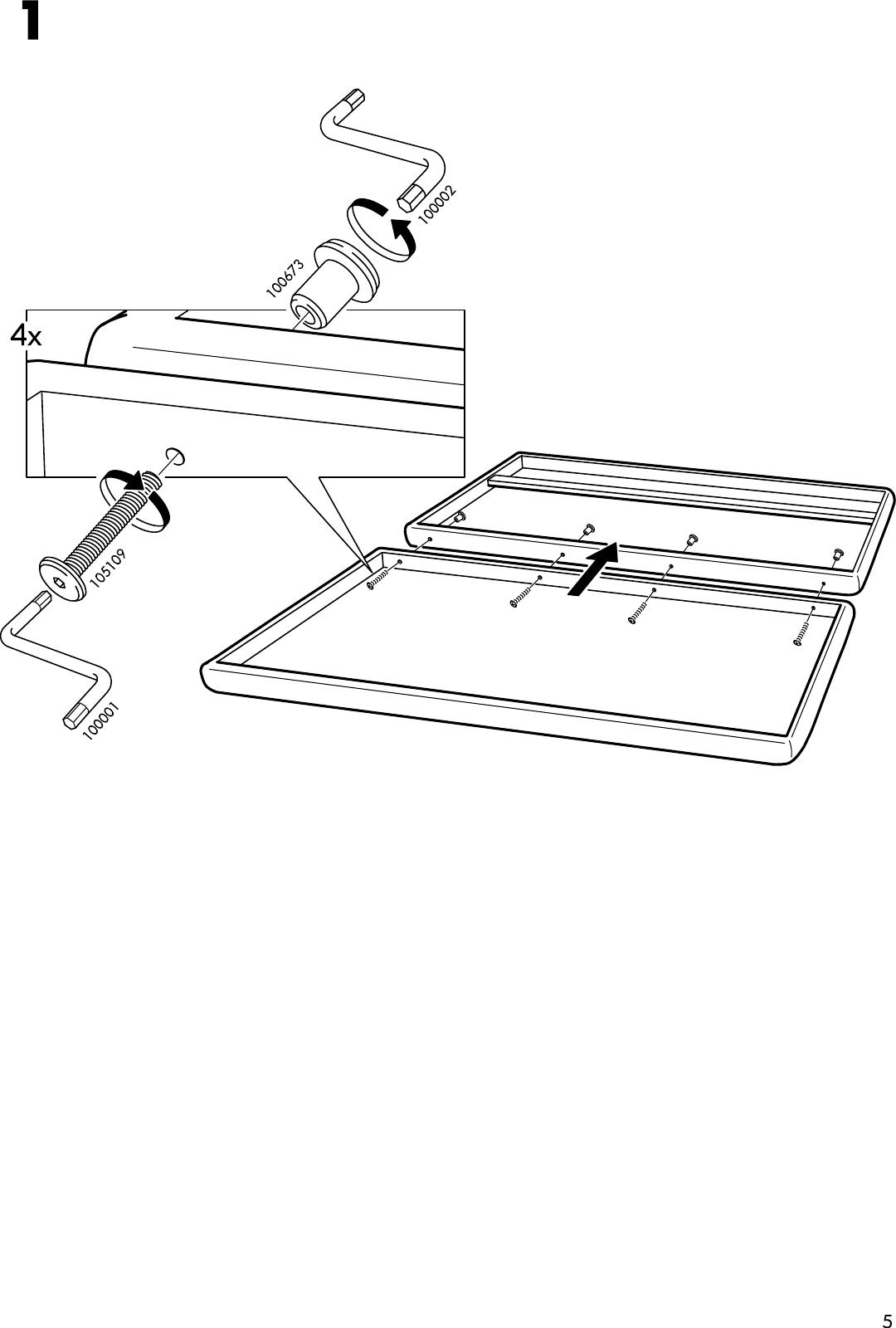 Ikea Badalen Wall Mounted Headboard Assembly Instruction