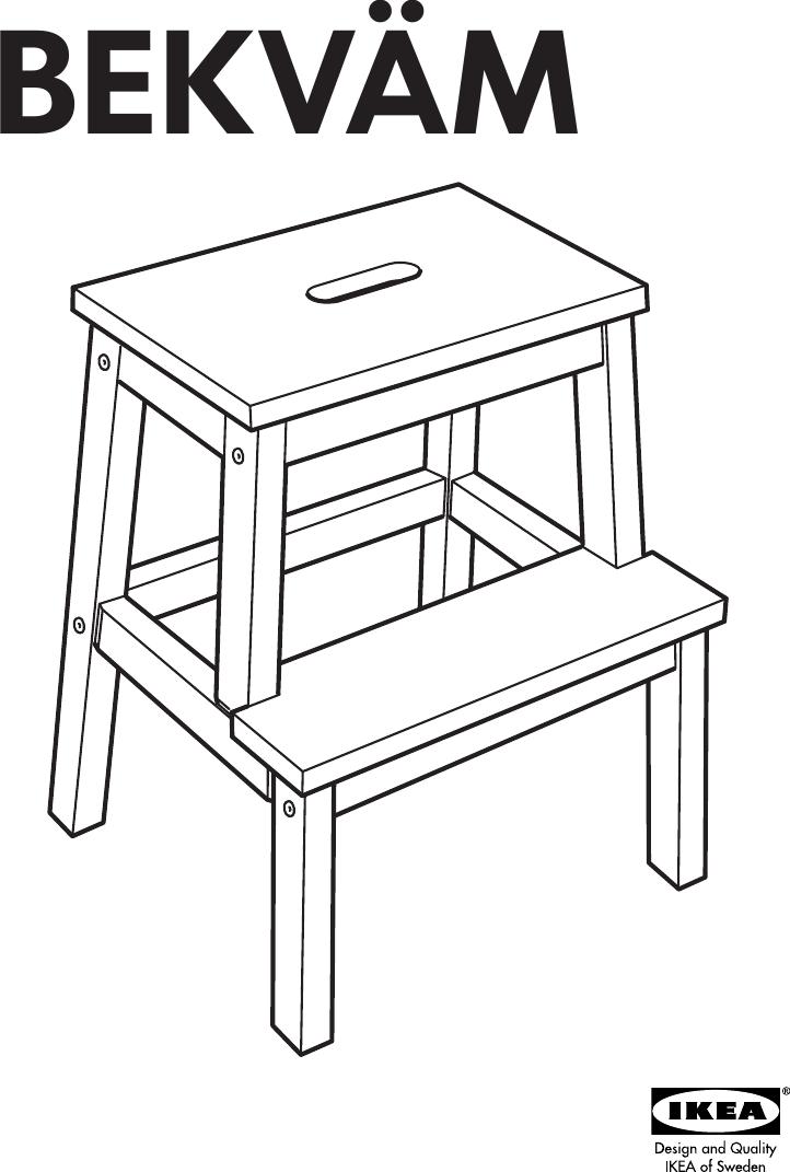 Ikea Bekvam Step Stool Assembly Instruction